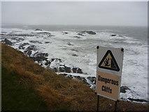 NT6779 : Coastal East Lothian : Dangerous Cliffs and Dangerous Seas at Dunbar by Richard West