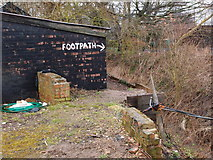 TL0536 : Footpath at Brookside Farm by Michael Trolove