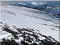 NN9577 : Moorland above Glen Tilt in winter by wrobison