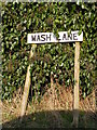 TM4368 : Wash Lane sign by Adrian Cable