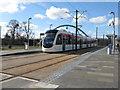 NT1672 : Edinburgh tram at Gogarburn by M J Richardson
