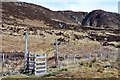 NG9522 : Gate in deer fence below Sgurr an Airgid by Jim Barton