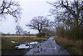TM4468 : Walkbarn Farm Lane & Hardpiece Lane Bridleway by Adrian Cable
