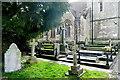 SP4414 : Bladon churchyard by Graham Horn