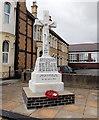 ST1268 : St Helen's RC War Memorial, Barry by Jaggery