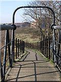 SE3419 : Wakefield - western ramp to Fall Ings footbridge by Dave Bevis