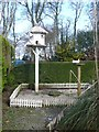 SW6335 : Bird house and doves, Clowance Estate by Humphrey Bolton