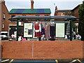 SP3265 : Bus shelter / clothes rail, Clemens Street CV31 by Robin Stott