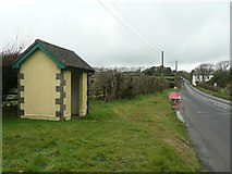 SW6832 : Bus shelter on the B3297, Crelly by Humphrey Bolton