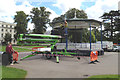 SP3165 : Inspecting the bandstand, Pump Room Gardens by Robin Stott