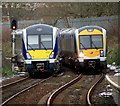 J3373 : Two trains, Belfast by Rossographer