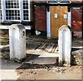 SJ9494 : Norbury House Gateposts by Gerald England