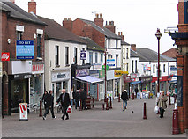 SK4641 : Ilkeston - shops at top of Bath Street by Dave Bevis
