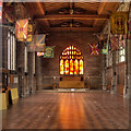 SJ8398 : Manchester Cathedral, Regiment Chapel and Fire Window by David Dixon