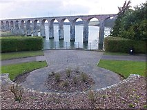 NT9953 : Newly-opened-up view of the Royal Border Bridge by Barbara Carr