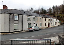 SS8983 : Houses at the far end of Dunraven Street, Aberkenfig by Jaggery