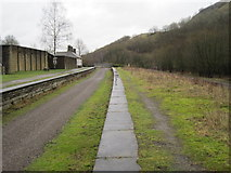 SK1373 : Millers Dale railway station (site) by Nigel Thompson