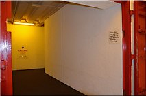 NO5608 : Blast doors at the bunker entrance by Jim Barton