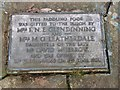 NY1381 : Paddling pool plaque by Richard Dorrell