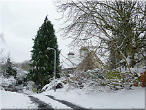 SO9096 : Late snow on Goldthorn Hill, Wolverhampton by Roger  Kidd