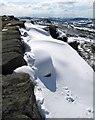 SK2575 : Snow on Curbar Edge by Dave Croker