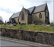 SS8983 : St John's church, Aberkenfig by Jaggery