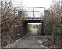 SS8983 : Path under the railway, Aberkenfig by Jaggery