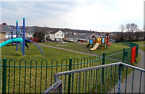 SS8983 : Children's play area, Aberkenfig by Jaggery