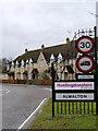 TL1395 : Alwalton village sign by Alan Murray-Rust