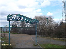 TQ4382 : End of the Greenway, Beckton by David Anstiss