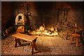 SK8190 : Medieval kitchen fireplace by Richard Croft