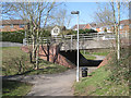 SP0266 : Footway underpass to Middle Piece Drive, Webheath, Redditch by Robin Stott