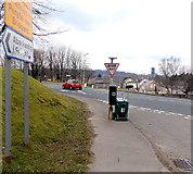 SS8983 : Street cleaner's equipment, Aberkenfig by Jaggery