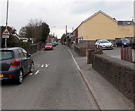 SS8983 : Northern end of Penyfai Road, Aberkenfig by Jaggery