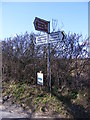 TM4469 : Roadsigns on Dunwich Road by Adrian Cable