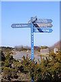 TM4767 : Signpost & Minsmere Road on Dunwich Heath by Adrian Cable
