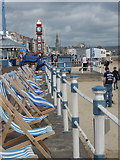 SY6879 : Weymouth: deckchairs on the promenade by Chris Downer