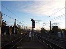 NT9953 : Berwick-Upon-Tweed Townscape : Platform End at Berwick by Richard West