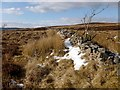 NS3679 : Dry-stone wall by Lairich Rig