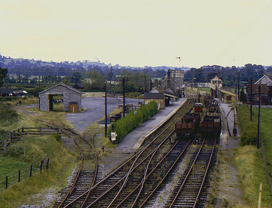ST6336 : The end of Evercreech Junction by Richard Green
