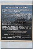 TQ7668 : Information, Chatham Naval Memorial by N Chadwick