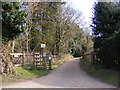 TM4770 : Footpath to Cliff House & entrance to Greyfriars Wood by Adrian Cable