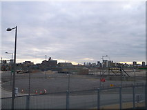 TQ3783 : Former Athletic training area, Olympic Park by David Anstiss
