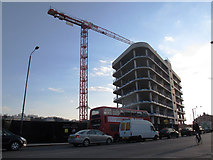 TQ3978 : Greenwich Square under construction (1) by Stephen Craven