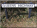 TM5194 : Queens Highway sign by Adrian Cable