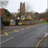 ST6390 : St Mary's church viewed from near the entrance of St Mary's school, Thornbury by Jaggery