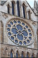 SK9771 : Dean's Eye Window, Exterior, Lincoln Cathedral by J.Hannan-Briggs
