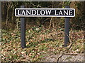 TG1307 : Landlow Lane sign by Adrian Cable