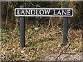 TG1307 : Landlow Lane sign by Geographer