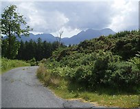 NG5536 : Road to Clachan from outside cemetery by Douglas Nelson